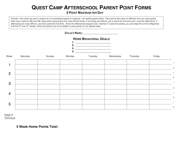 Afterschool Parent Point Form thumbnail