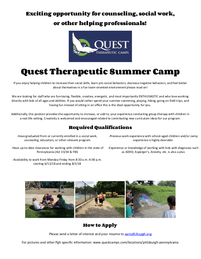 Quest Camp Staff Flyer