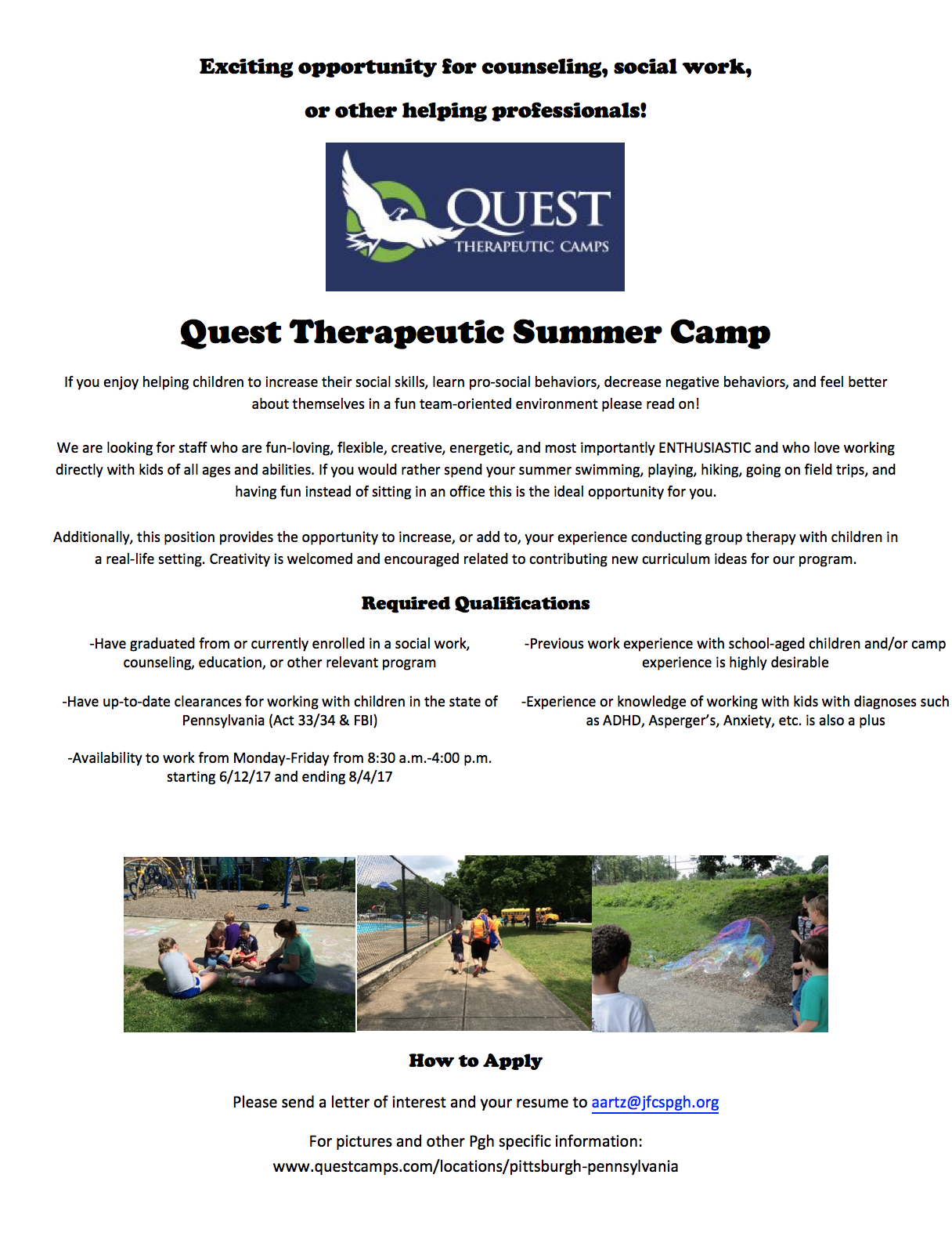 Quest Staff Flyer 2017