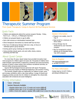 Therapeutic Summer Program 2015 thumbnail